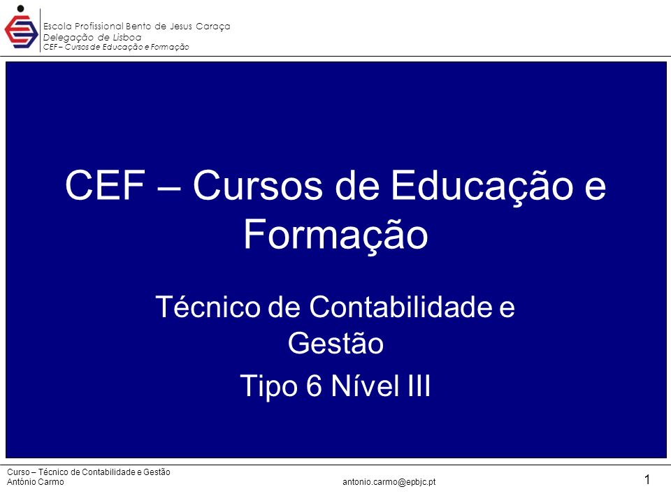 CEF – Cursos de Educação e Formação