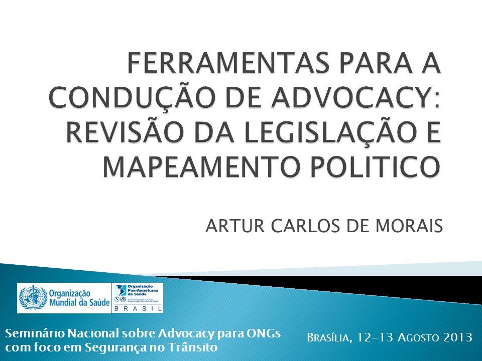 FERRAMENTAS PARA A CONDUÇÃO DE ADVOCACY: REVISÃO DA LEGISLAÇÃO E MAPEAMENTO POLITICO