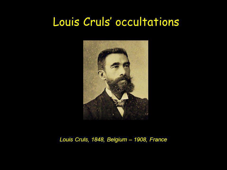 Louis Cruls' occultations