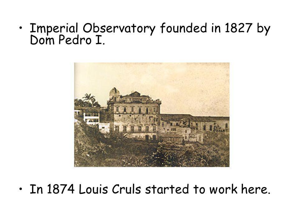 Imperial Observatory founded in 1827 by Dom Pedro I.