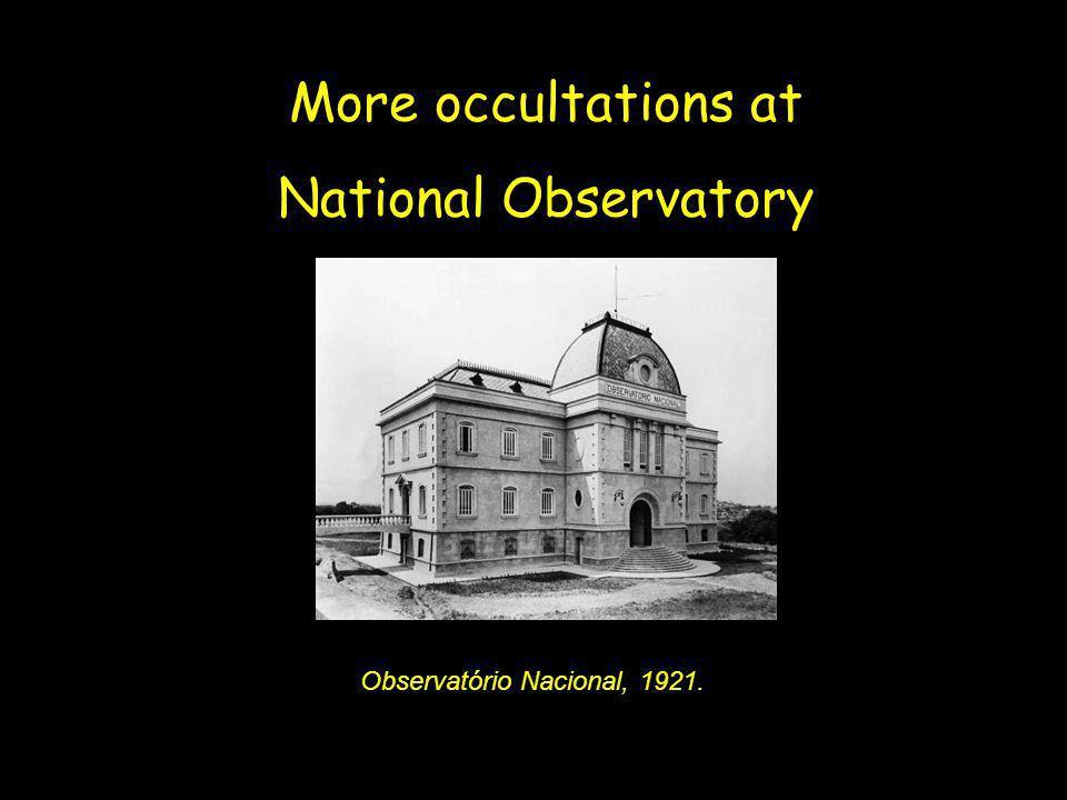 Observatório Nacional, 1921.