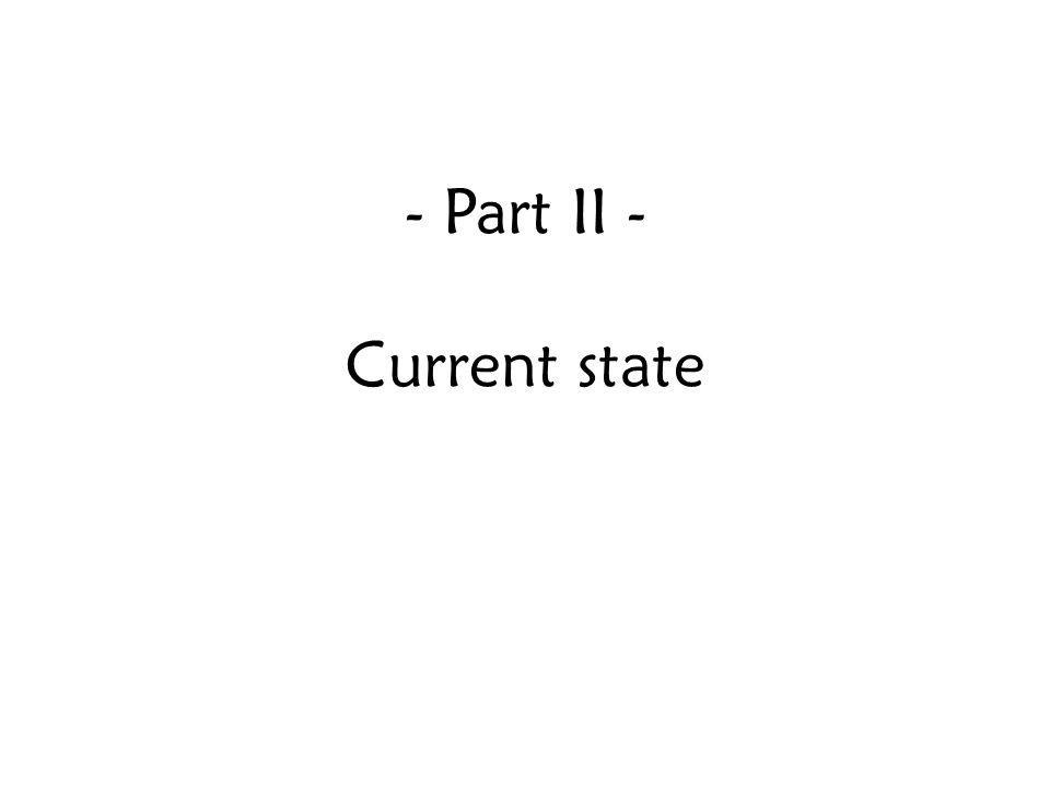 Part II - Current state