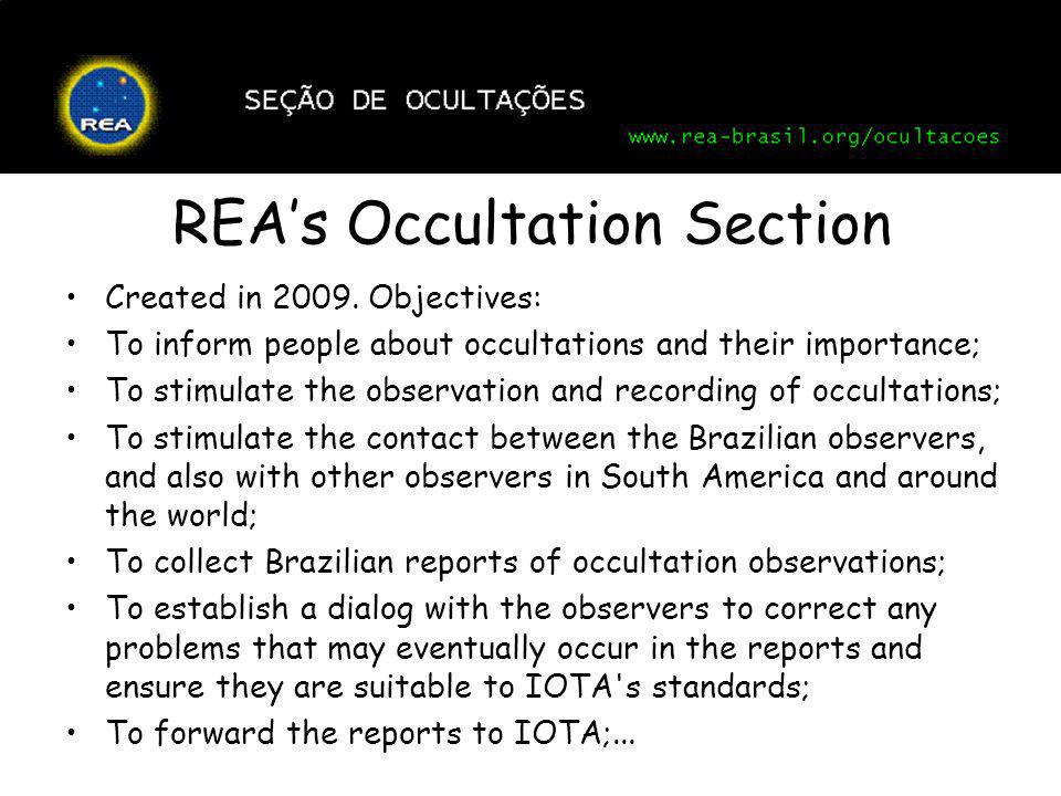 REA's Occultation Section