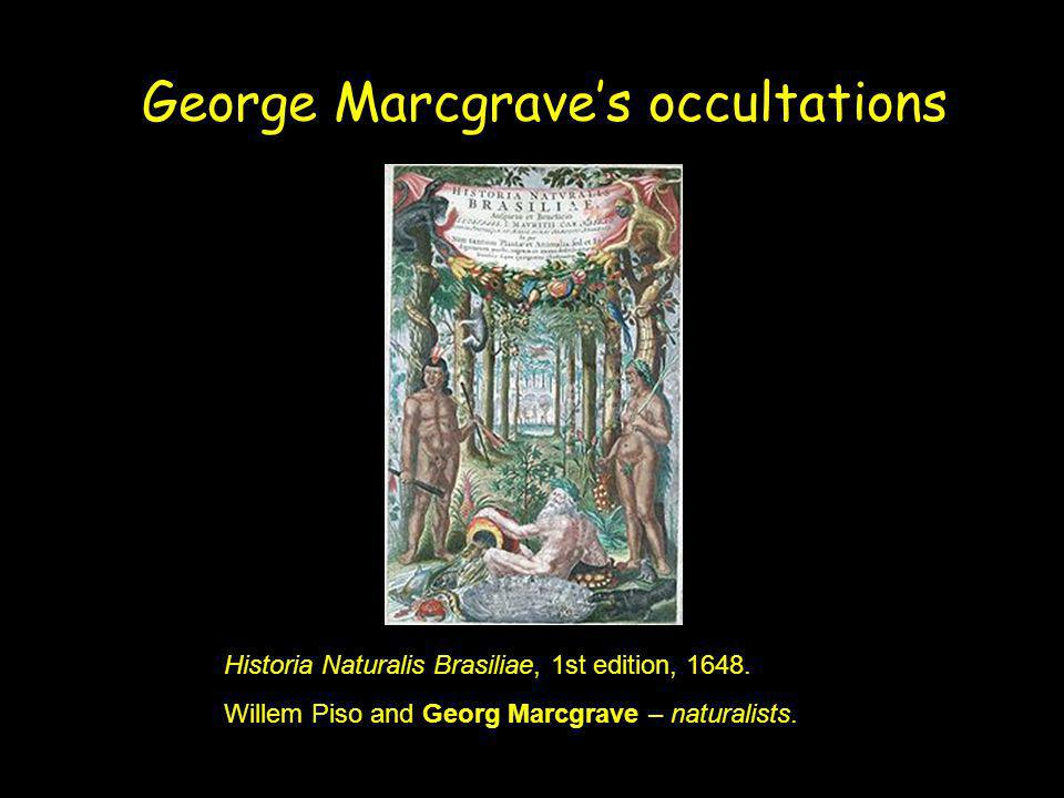 George Marcgrave's occultations