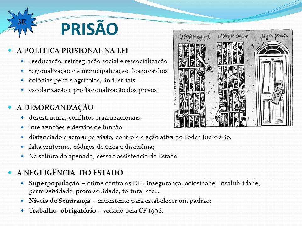 PRISÃO 3E A POLÍTICA PRISIONAL NA LEI A DESORGANIZAÇÃO