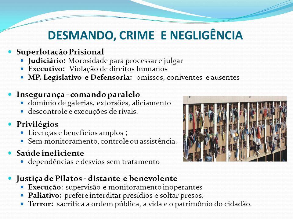 DESMANDO, CRIME E NEGLIGÊNCIA