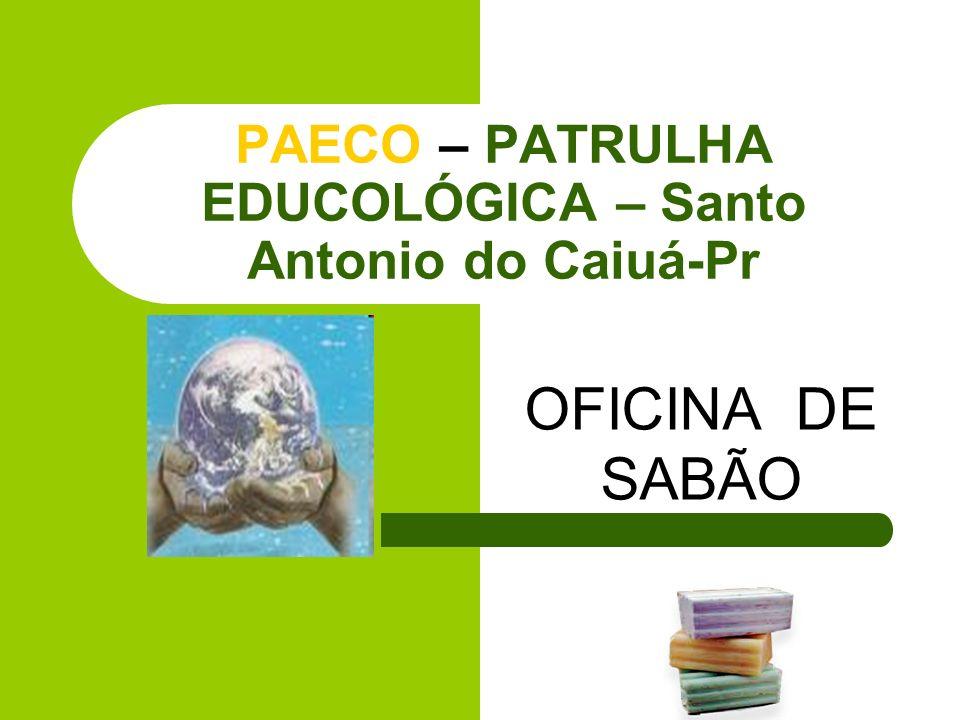 PAECO – PATRULHA EDUCOLÓGICA – Santo Antonio do Caiuá-Pr