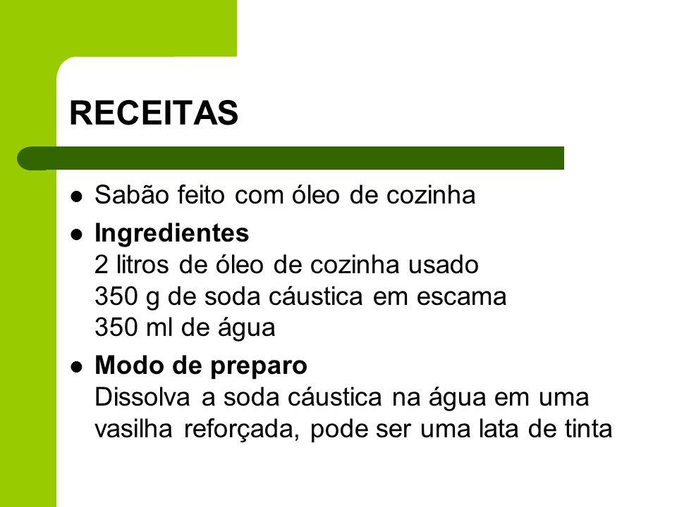 RECEITAS Sabão feito com óleo de cozinha