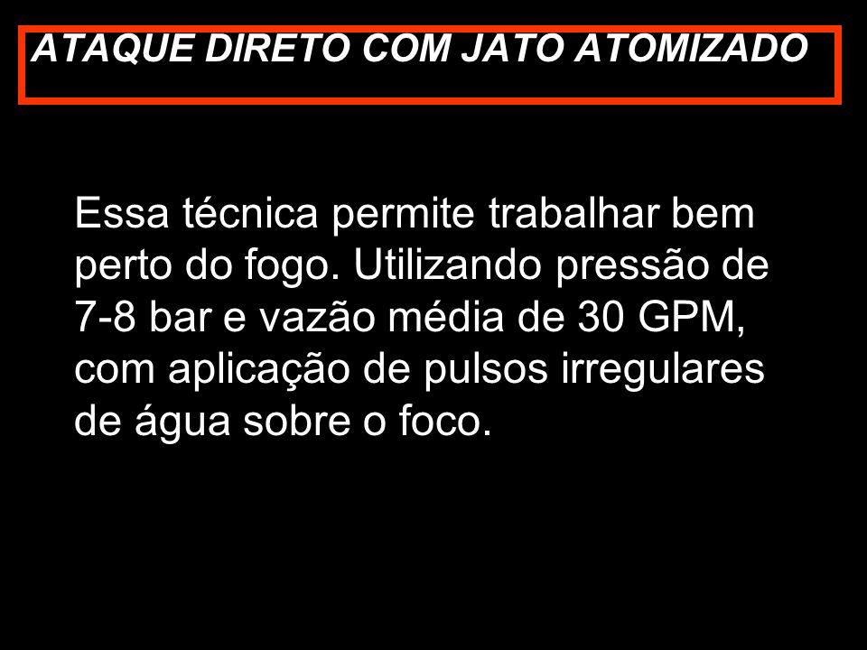 ATAQUE DIRETO COM JATO ATOMIZADO