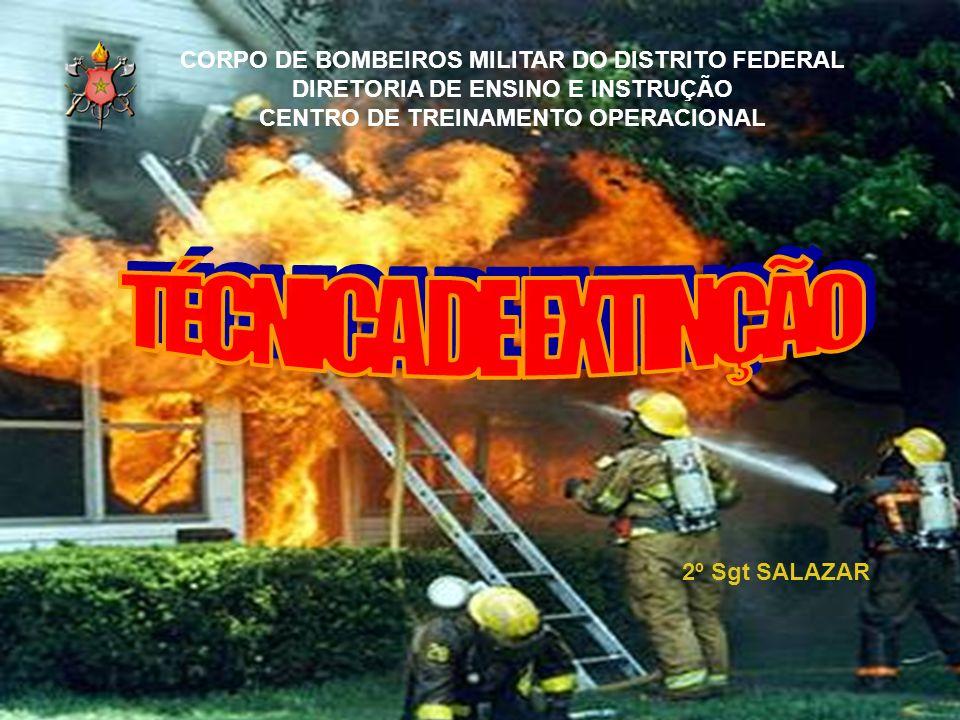 TÉCNICA DE EXTINÇÃO CORPO DE BOMBEIROS MILITAR DO DISTRITO FEDERAL