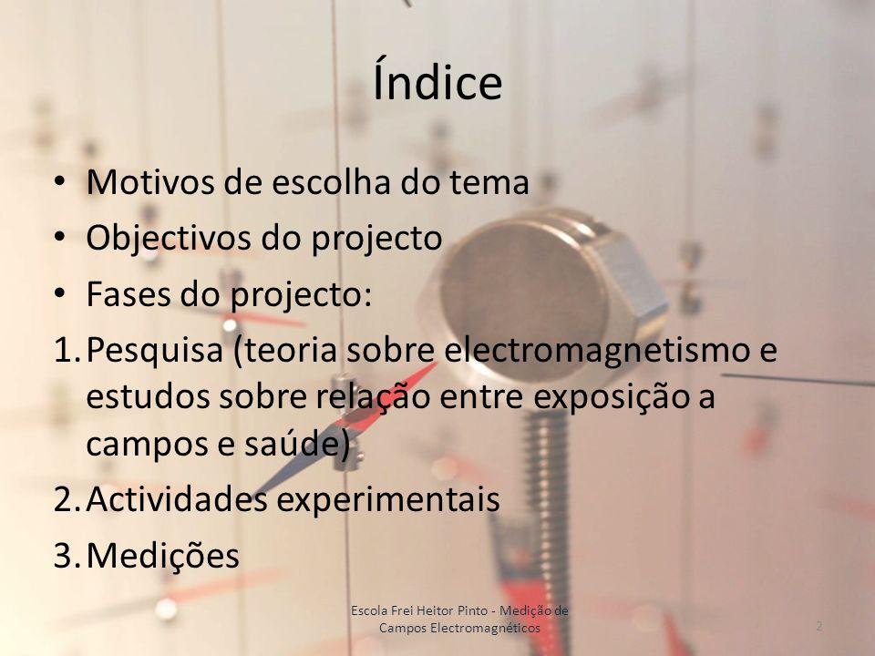 Escola Frei Heitor Pinto - Medição de Campos Electromagnéticos