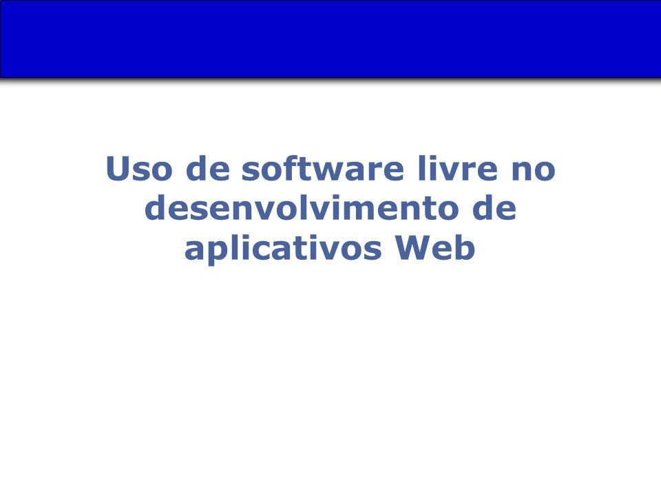 Uso de software livre no desenvolvimento de aplicativos Web