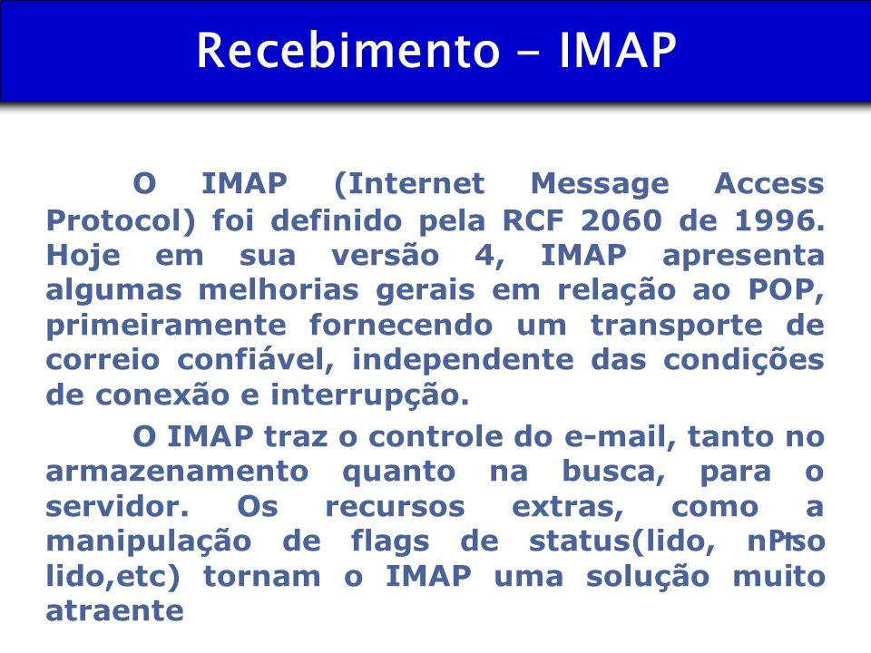 Recebimento - IMAP