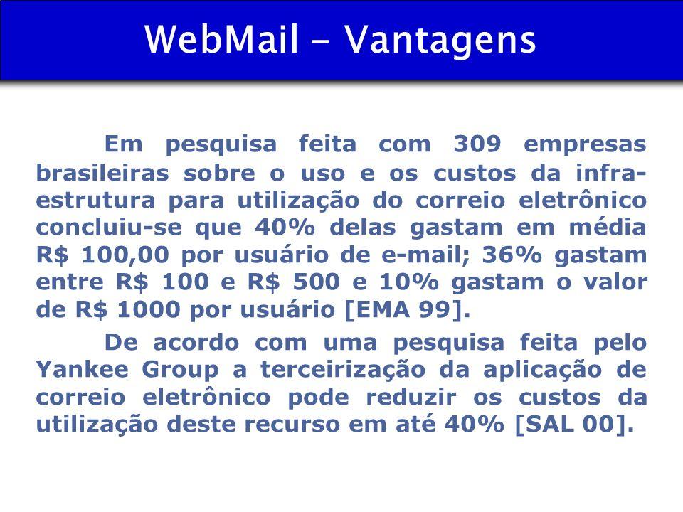 WebMail - Vantagens