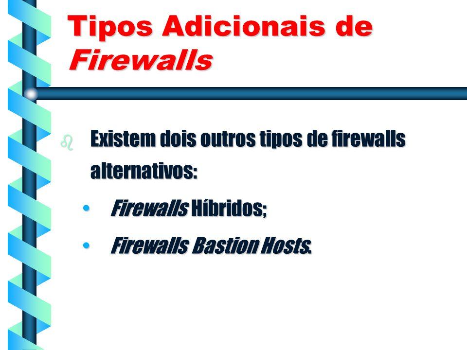 Tipos Adicionais de Firewalls