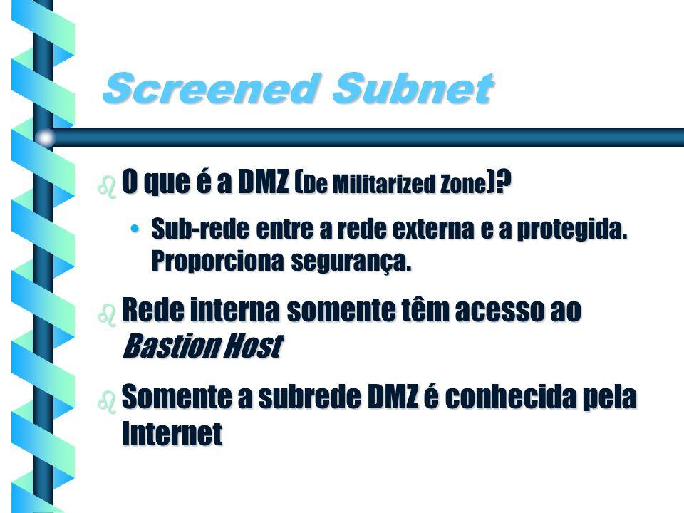 Screened Subnet O que é a DMZ (De Militarized Zone)