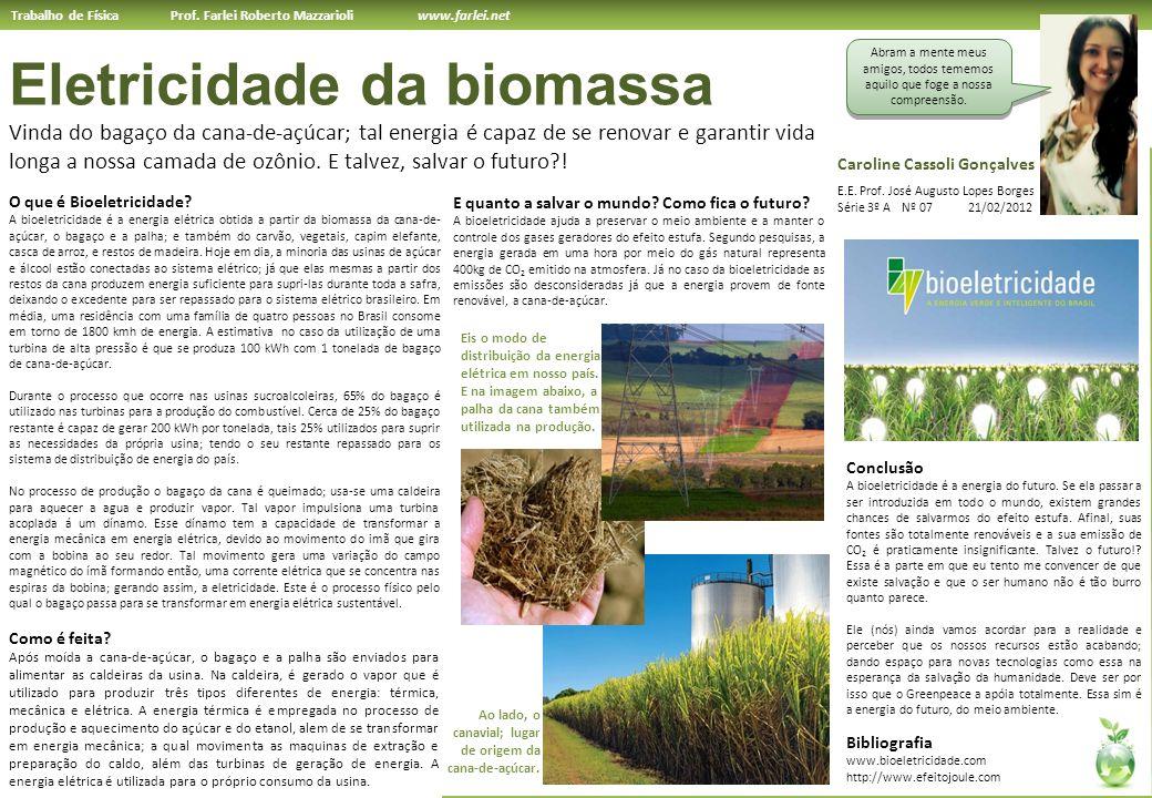 Eletricidade da biomassa