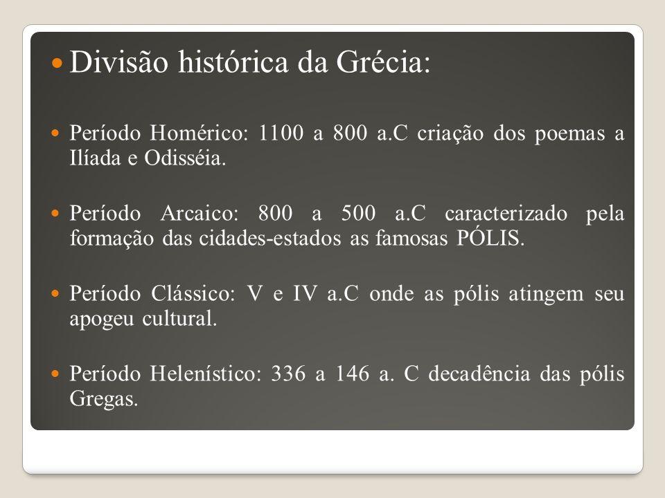 Divisão histórica da Grécia: