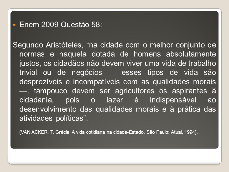 Enem 2009 Questão 58: