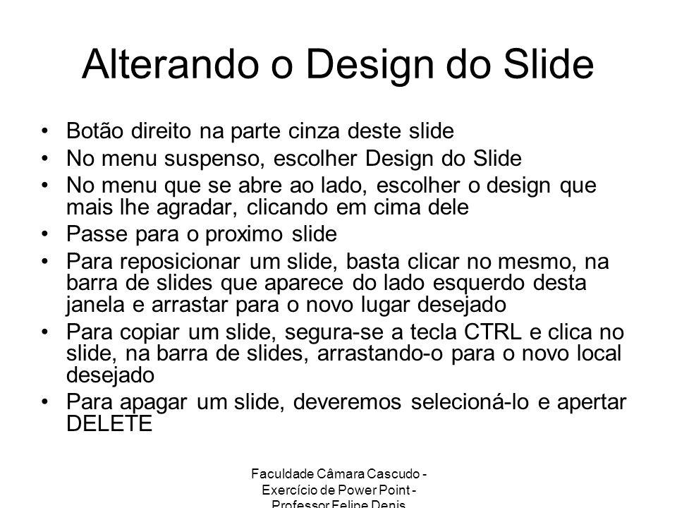 Alterando o Design do Slide