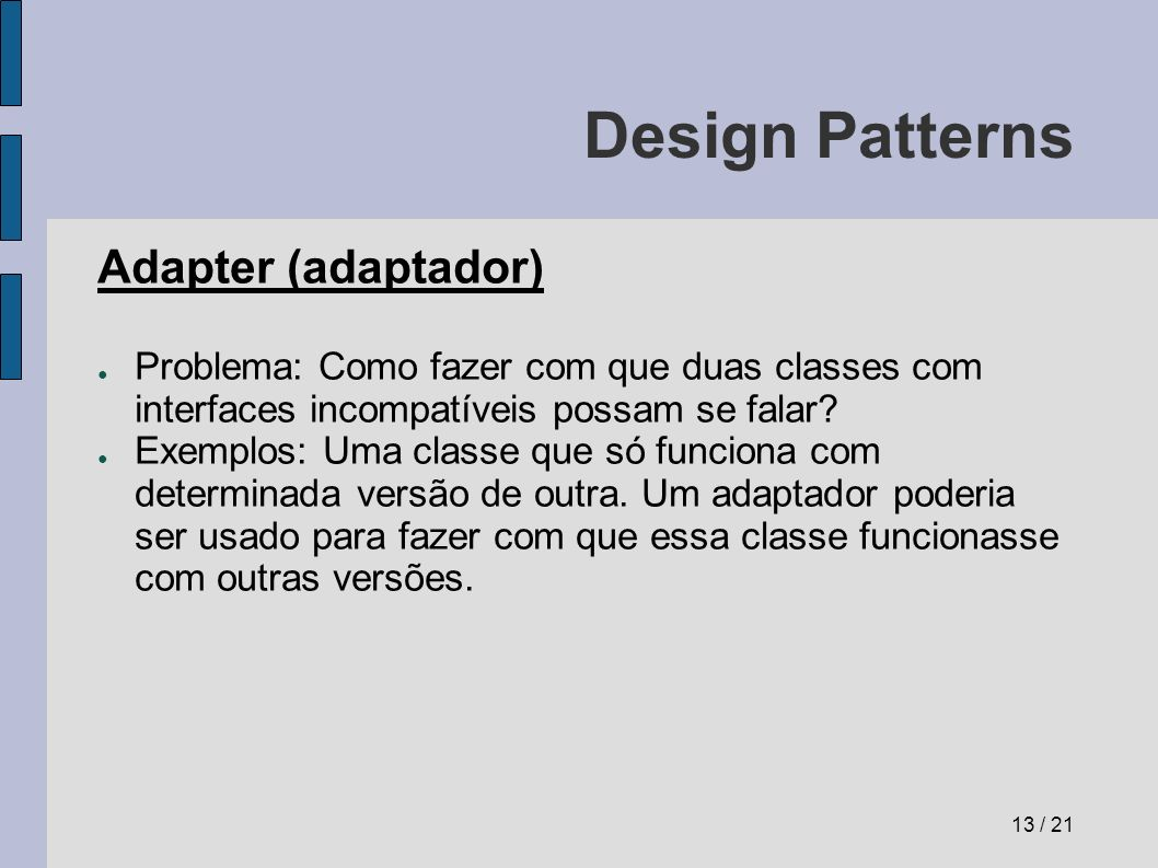 Design Patterns Adapter (adaptador)