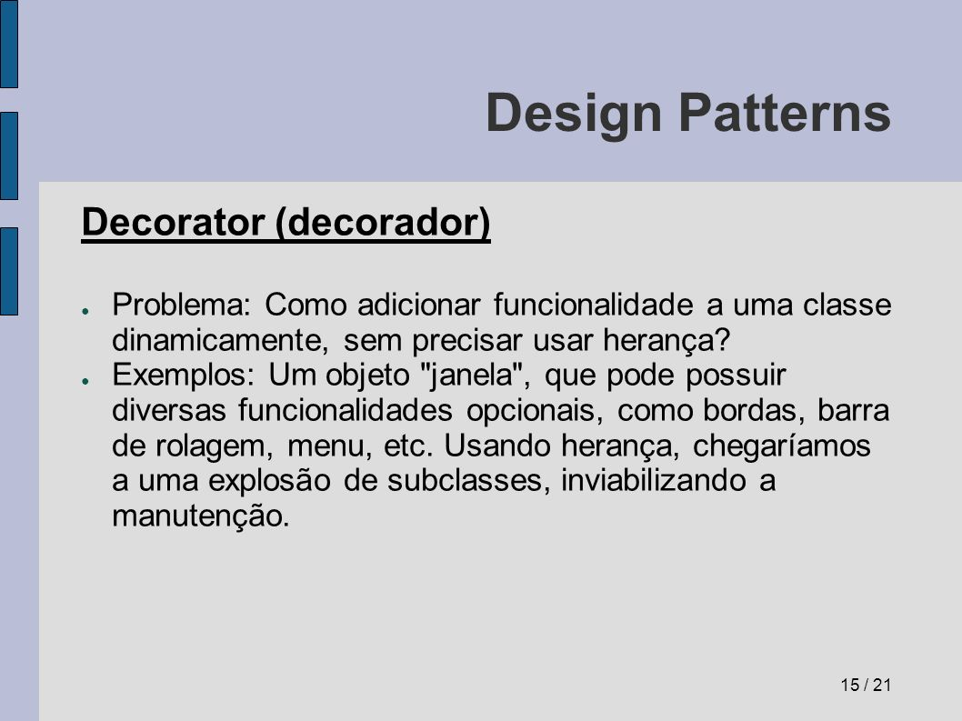 Design Patterns Decorator (decorador)