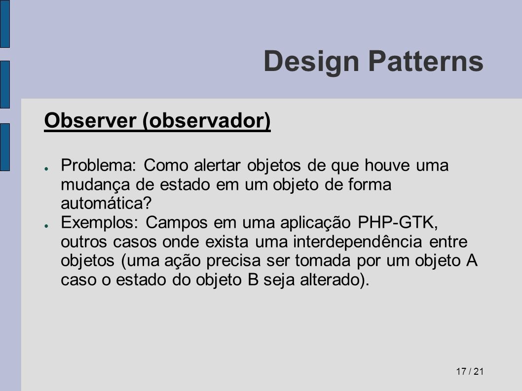 Design Patterns Observer (observador)