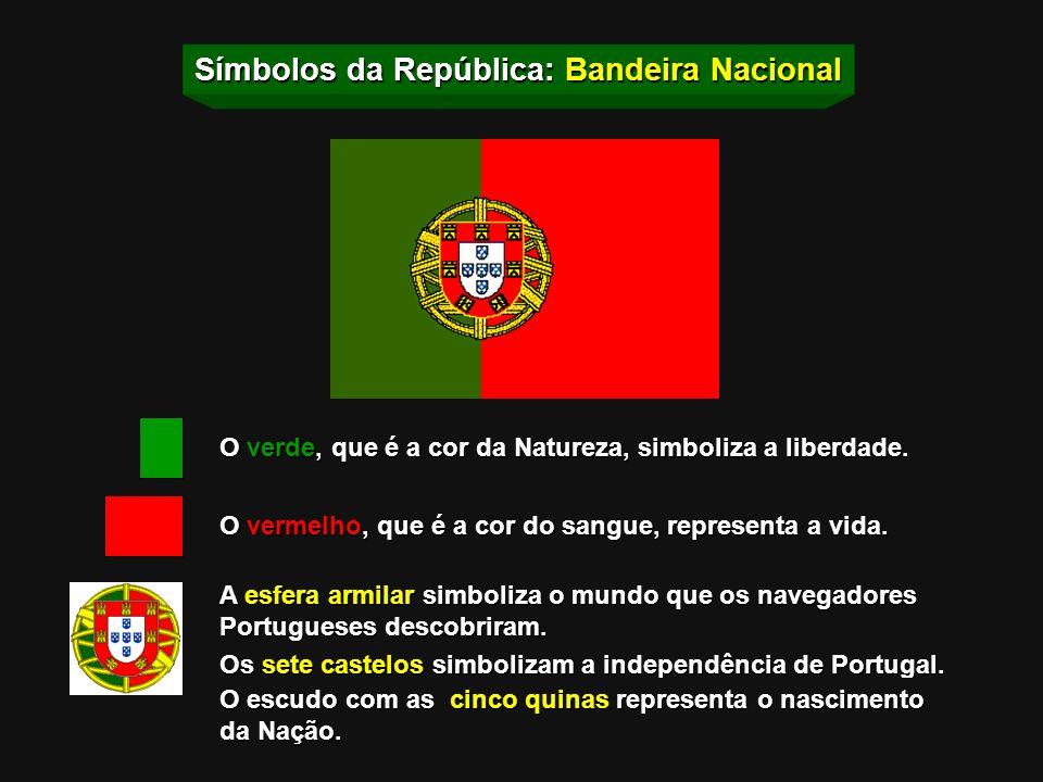 Símbolos da República: Bandeira Nacional