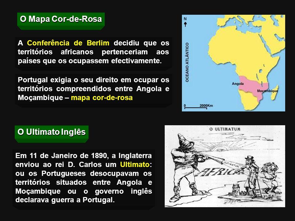 O Mapa Cor-de-Rosa O Ultimato Inglês