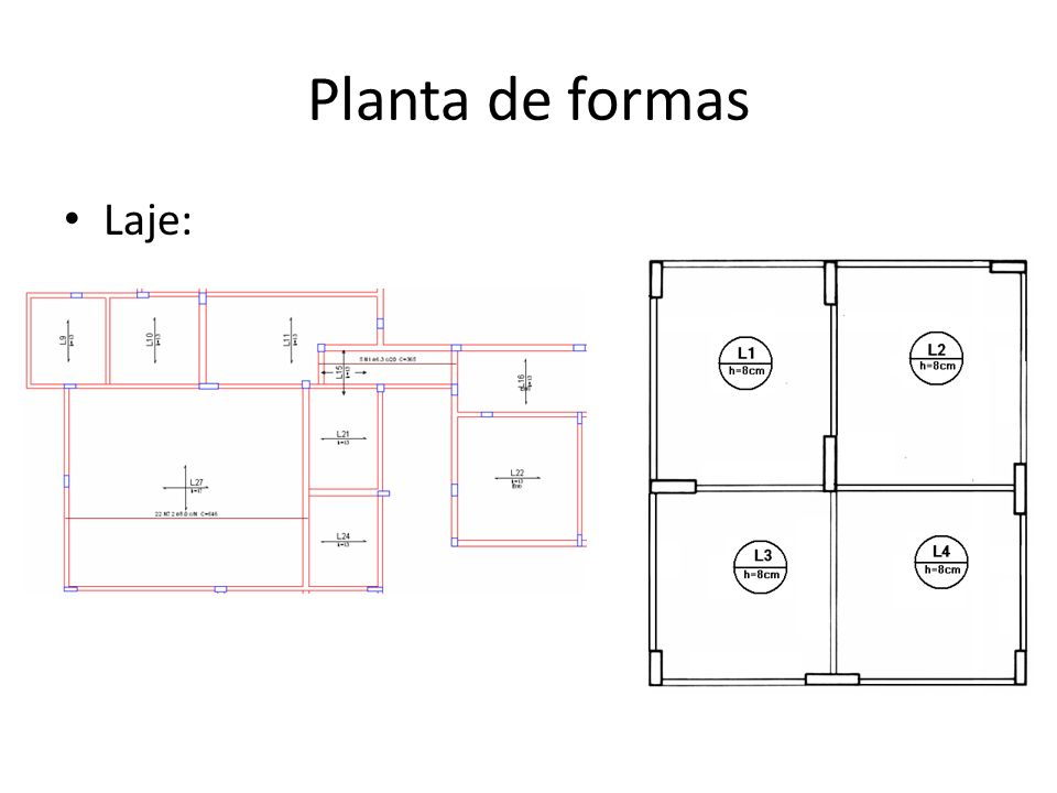 Planta de formas Laje: