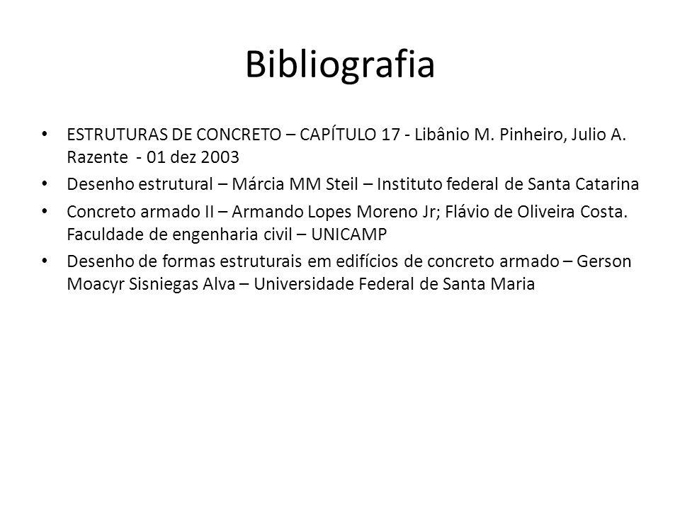 Bibliografia ESTRUTURAS DE CONCRETO – CAPÍTULO 17 - Libânio M. Pinheiro, Julio A. Razente - 01 dez 2003.