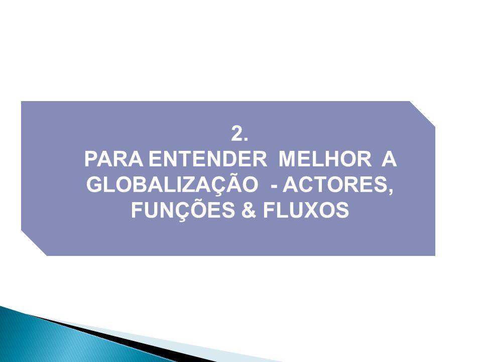 PARA ENTENDER MELHOR A GLOBALIZAÇÃO - ACTORES, FUNÇÕES & FLUXOS