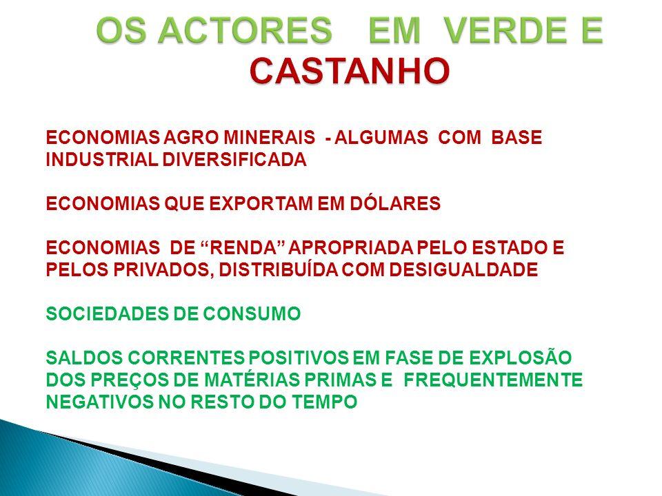 OS ACTORES EM VERDE E CASTANHO