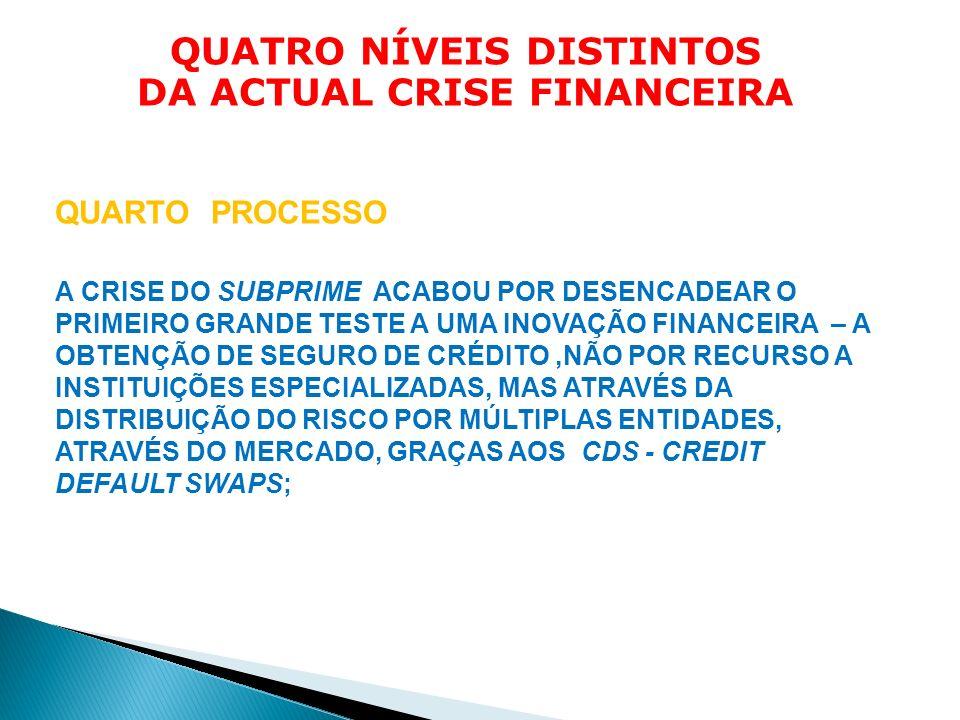 Quatro níveis distintos da actual crise financeira