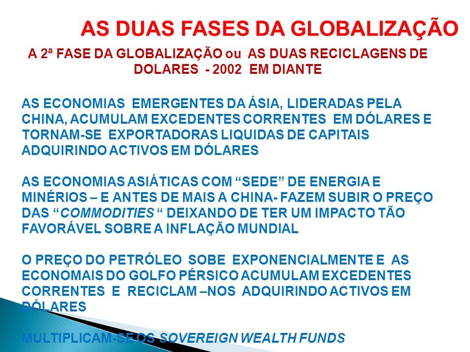 AS DUAS FASES DA GLOBALIZAÇÃO