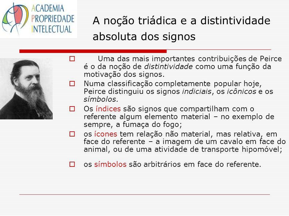 A noção triádica e a distintividade absoluta dos signos