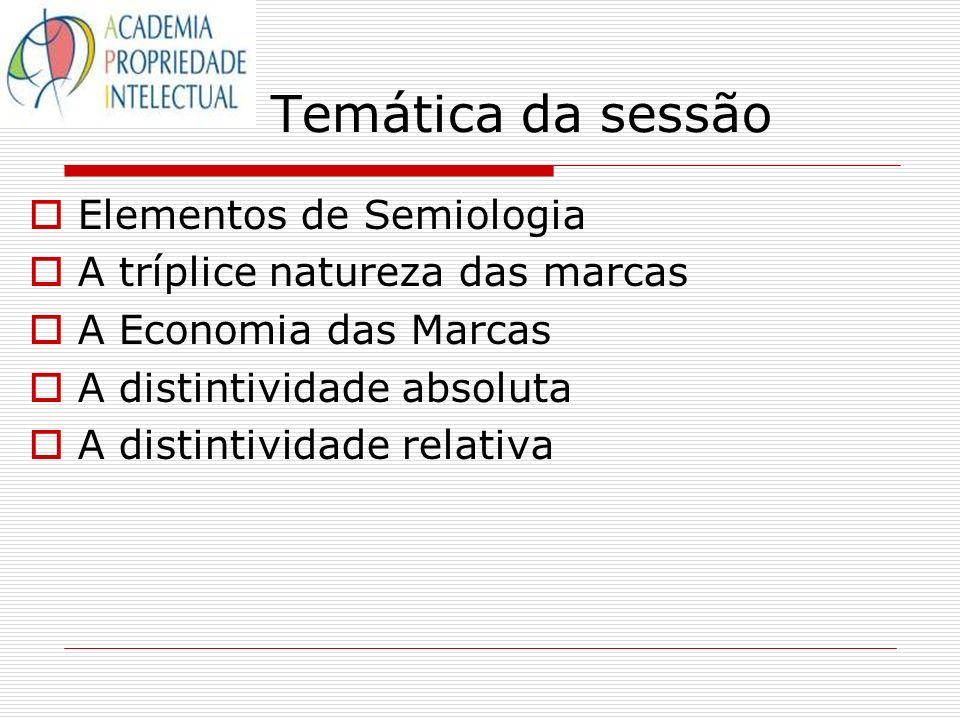 Temática da sessão Elementos de Semiologia