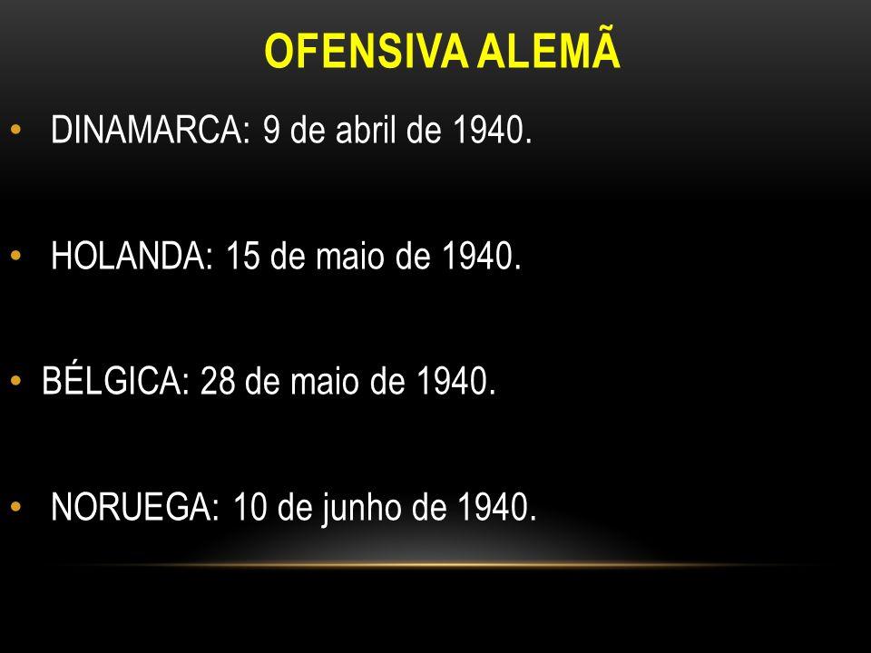 OFENSIVA ALEMÃ DINAMARCA: 9 de abril de 1940.