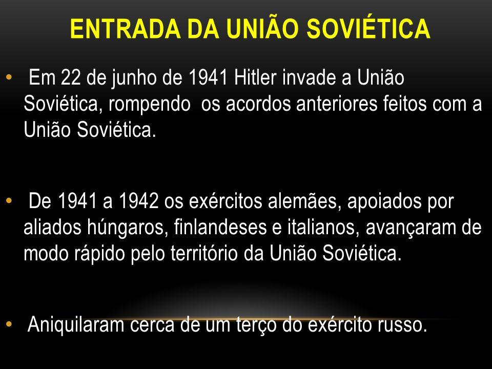 ENTRADA DA UNIÃO SOVIÉTICA