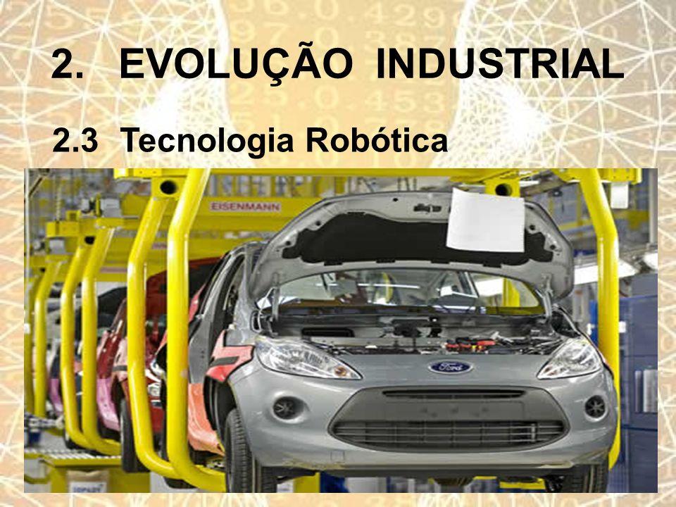 2. EVOLUÇÃO INDUSTRIAL 2.3 Tecnologia Robótica