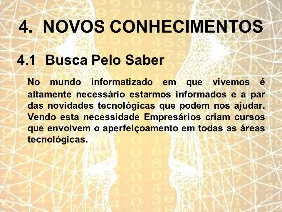 4. NOVOS CONHECIMENTOS 4.1 Busca Pelo Saber
