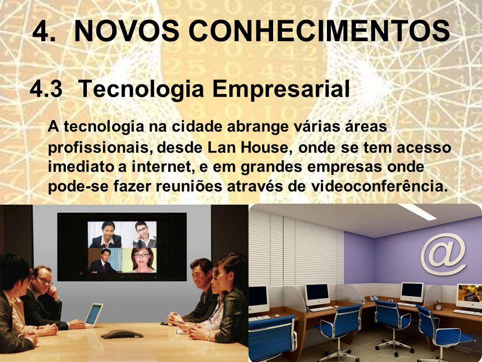 4. NOVOS CONHECIMENTOS 4.3 Tecnologia Empresarial