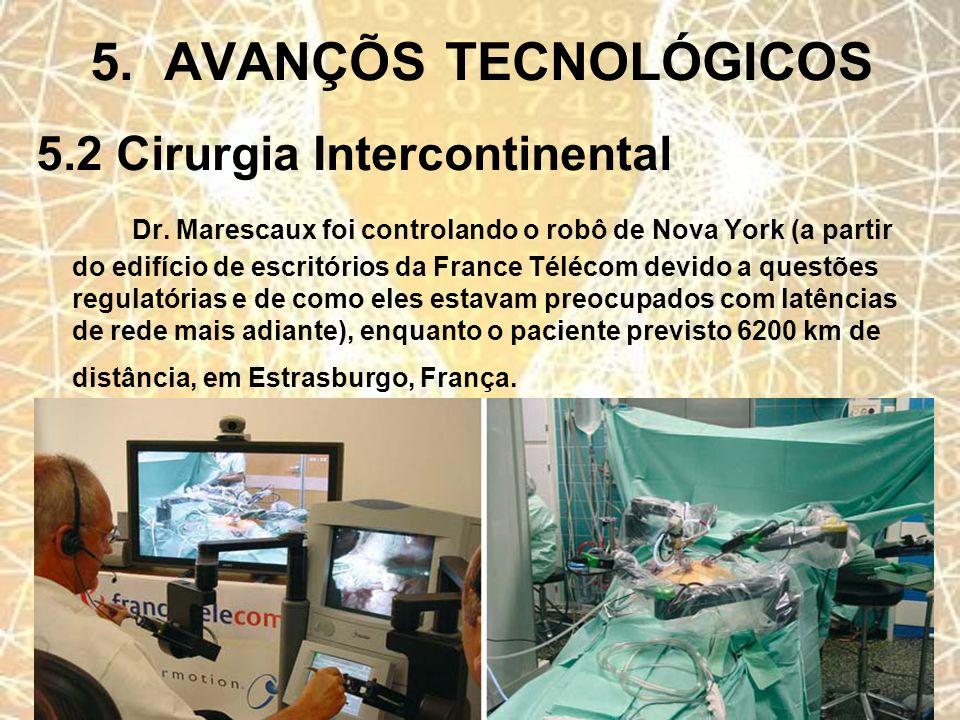 5. AVANÇÕS TECNOLÓGICOS 5.2 Cirurgia Intercontinental