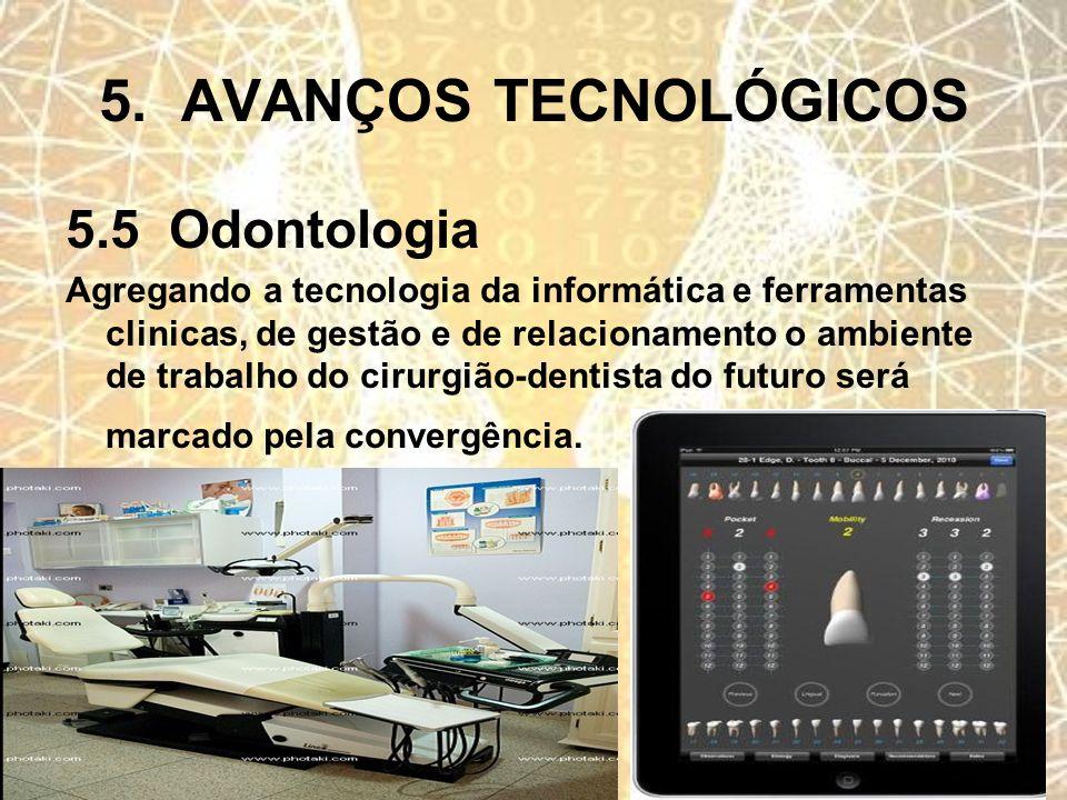 5. AVANÇOS TECNOLÓGICOS 5.5 Odontologia
