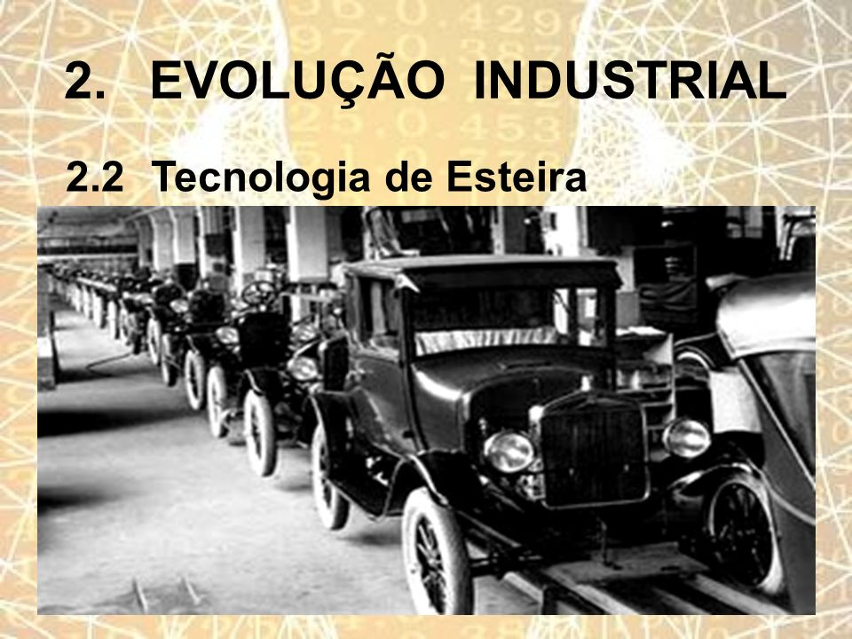 2. EVOLUÇÃO INDUSTRIAL 2.2 Tecnologia de Esteira