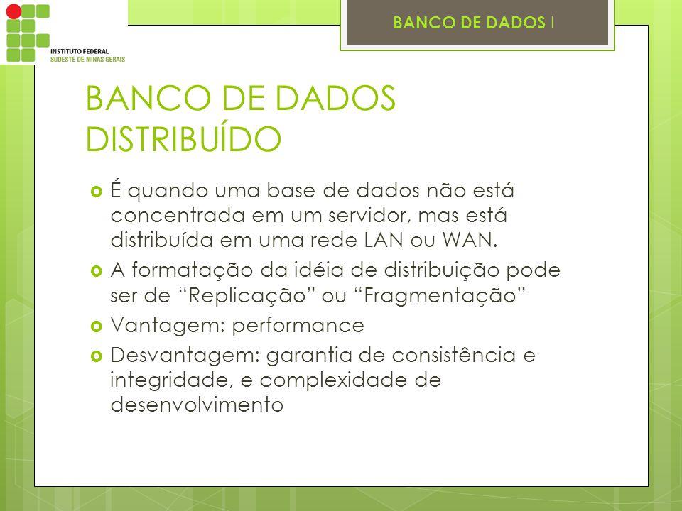 BANCO DE DADOS DISTRIBUÍDO
