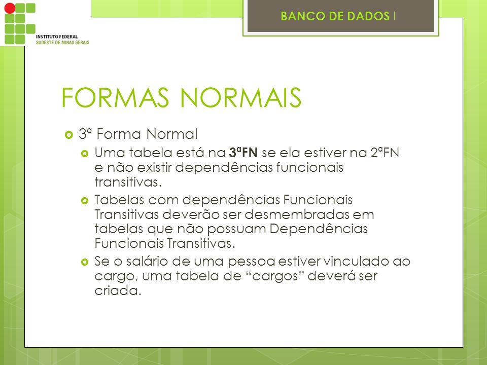 FORMAS NORMAIS 3ª Forma Normal