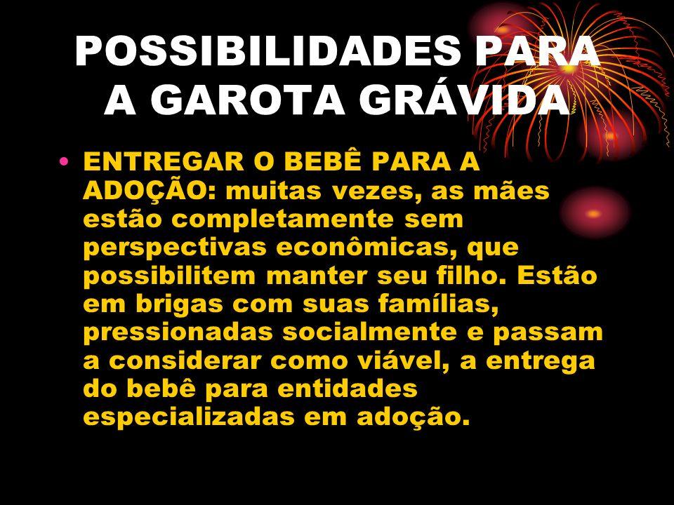 POSSIBILIDADES PARA A GAROTA GRÁVIDA