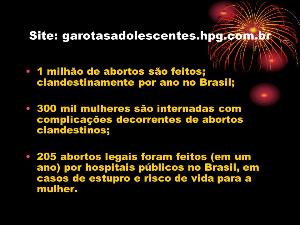 Site: garotasadolescentes.hpg.com.br