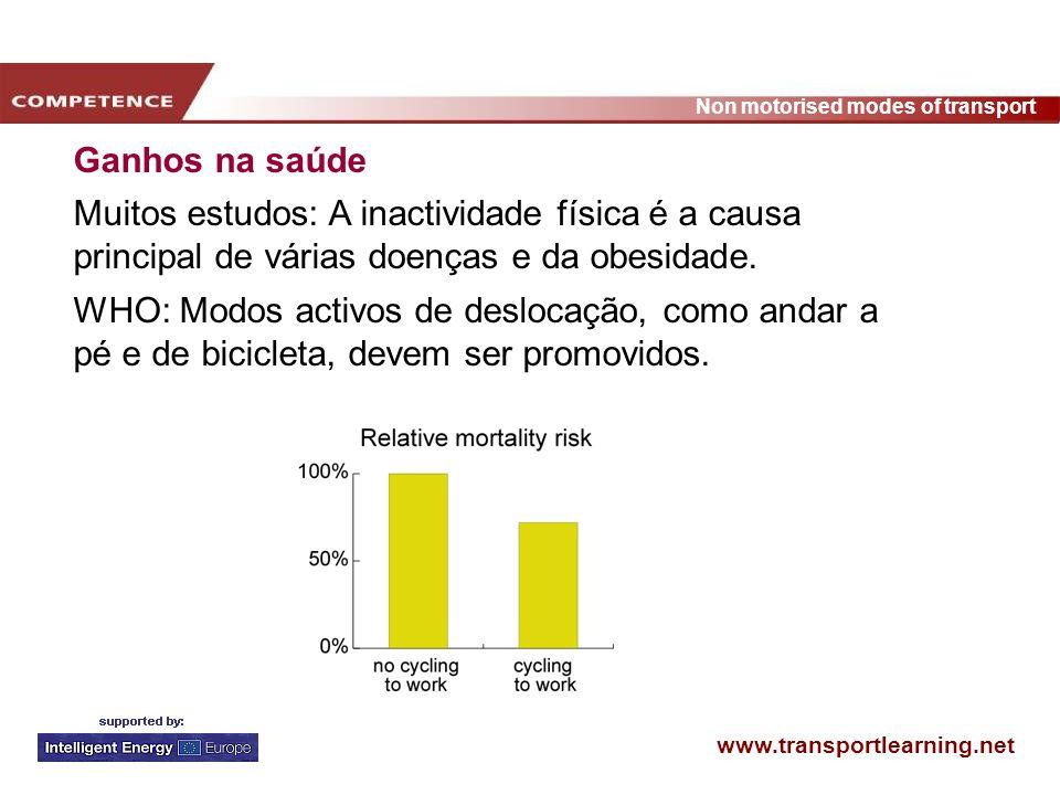 Ganhos na saúde Muitos estudos: A inactividade física é a causa principal de várias doenças e da obesidade.